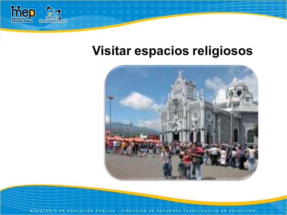 Visitar espacios religiosos