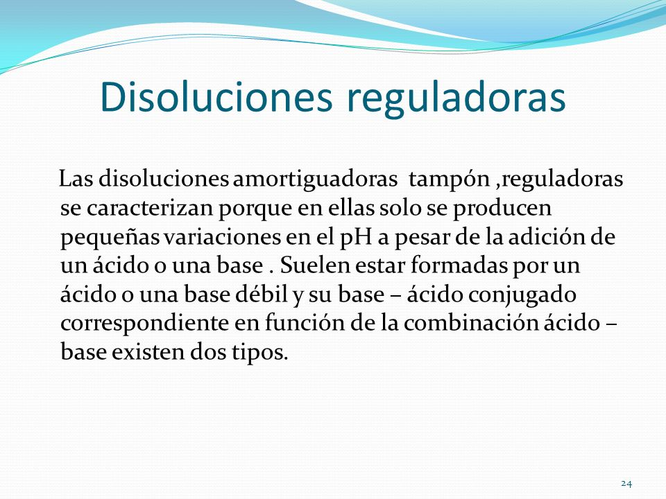 Disoluciones reguladoras