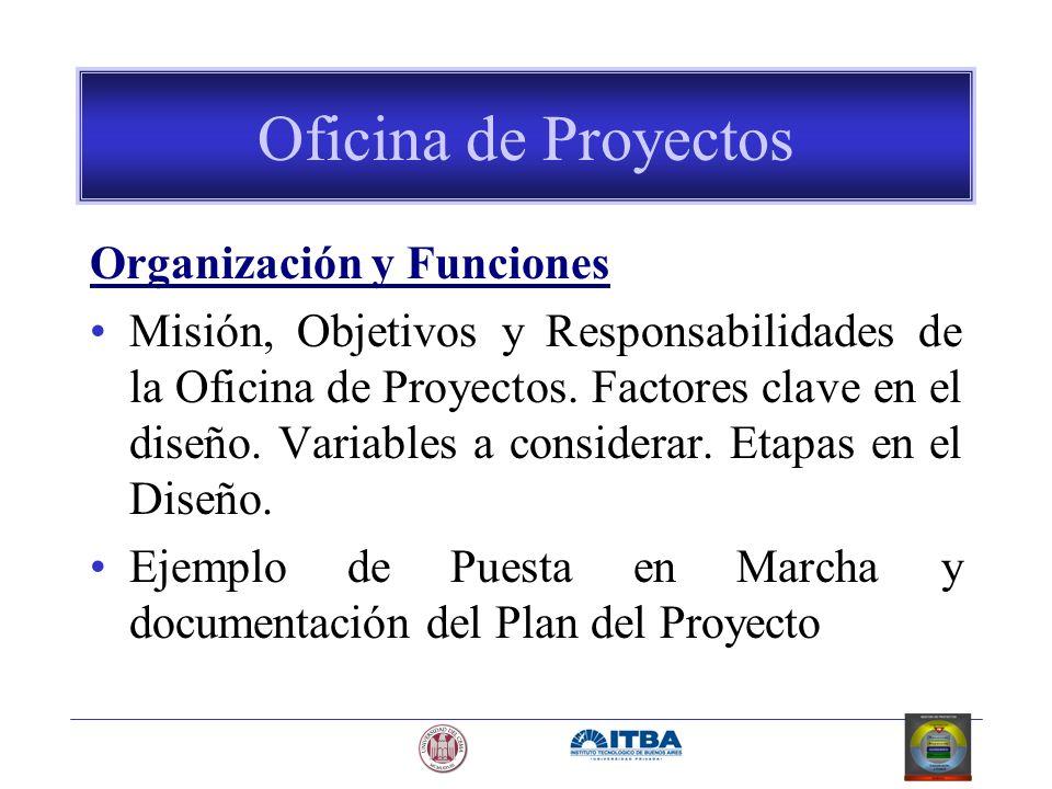 Oficina de Proyectos Organización y Funciones