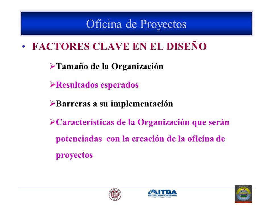 Oficina de Proyectos FACTORES CLAVE EN EL DISEÑO