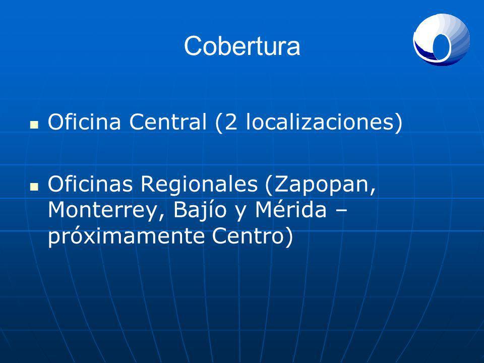 Cobertura Oficina Central (2 localizaciones)