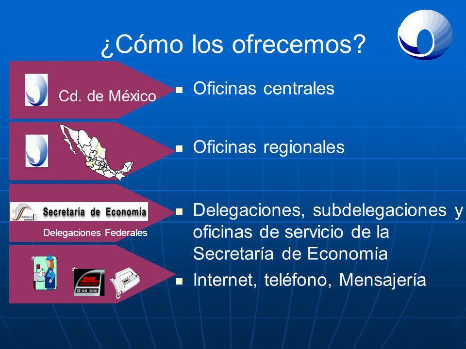 ¿Cómo los ofrecemos Oficinas centrales Oficinas regionales