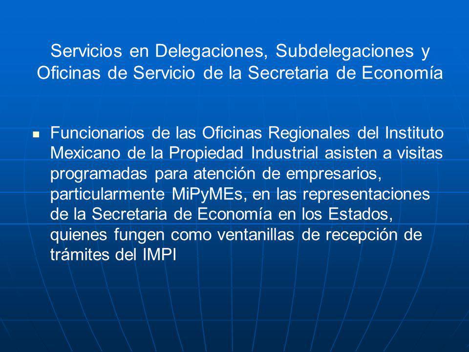 Servicios en Delegaciones, Subdelegaciones y Oficinas de Servicio de la Secretaria de Economía