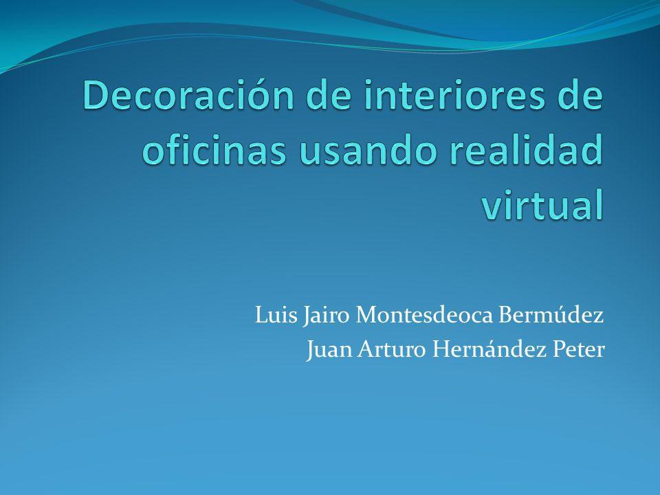 Decoración de interiores de oficinas usando realidad virtual