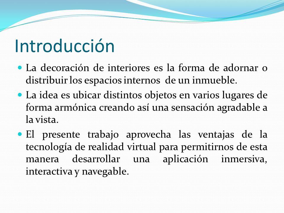 Introducción La decoración de interiores es la forma de adornar o distribuir los espacios internos de un inmueble.