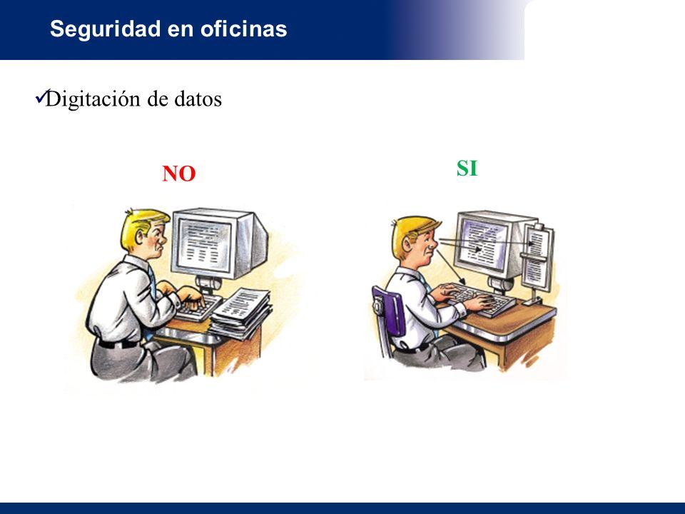 Seguridad en oficinas Digitación de datos SI NO