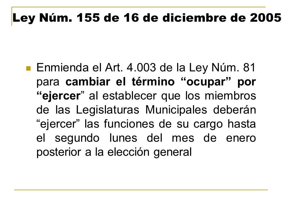 Ley Núm. 155 de 16 de diciembre de 2005