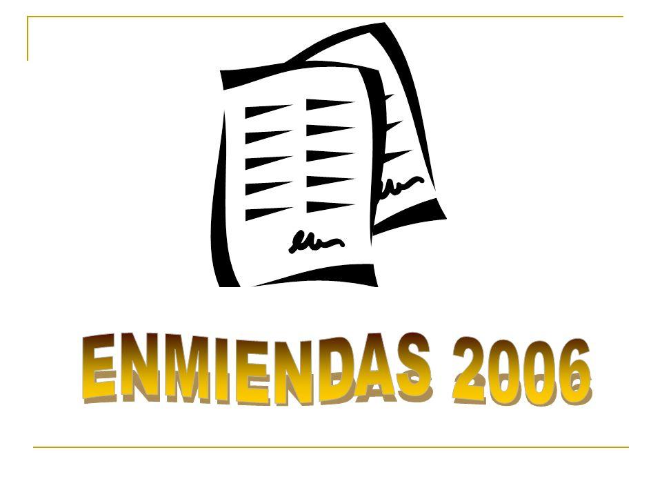 ENMIENDAS 2006