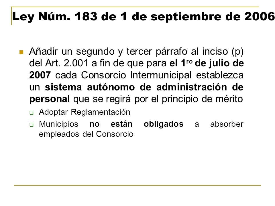 Ley Núm. 183 de 1 de septiembre de 2006