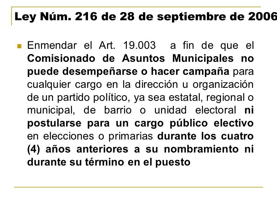 Ley Núm. 216 de 28 de septiembre de 2006
