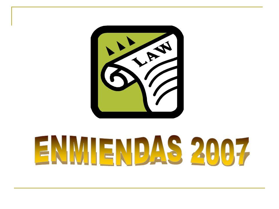ENMIENDAS 2007