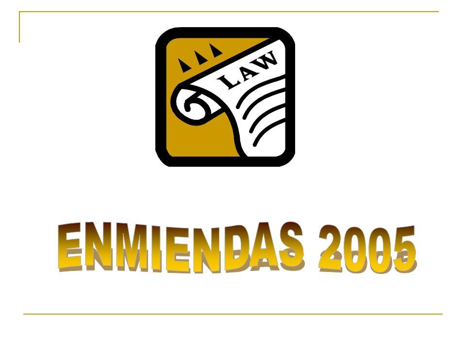 ENMIENDAS 2005