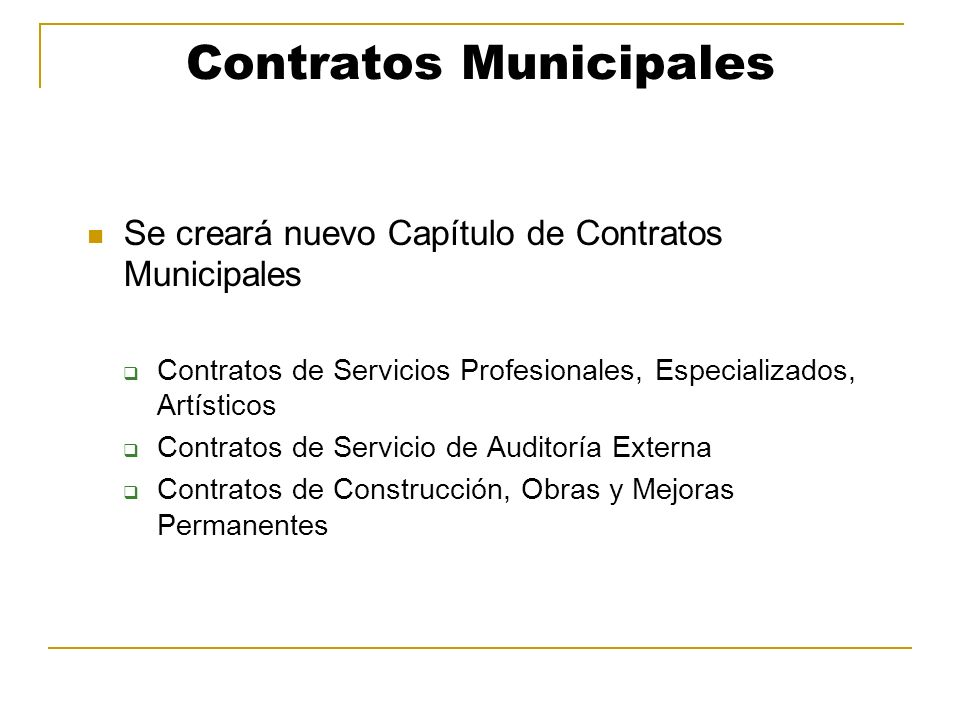 Contratos Municipales