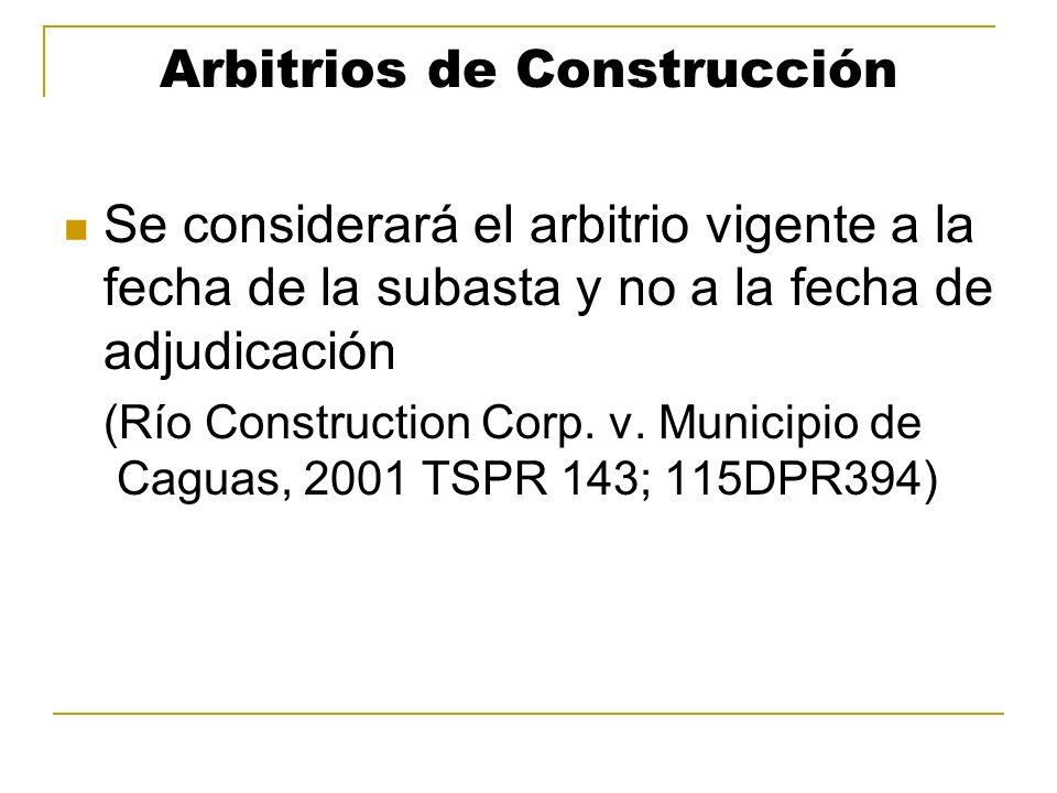 Arbitrios de Construcción