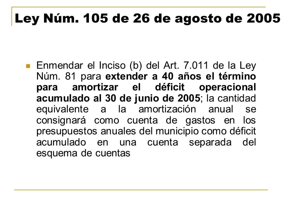 Ley Núm. 105 de 26 de agosto de 2005