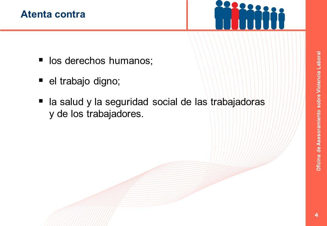 Atenta contra los derechos humanos; el trabajo digno; la salud y la seguridad social de las trabajadoras y de los trabajadores.