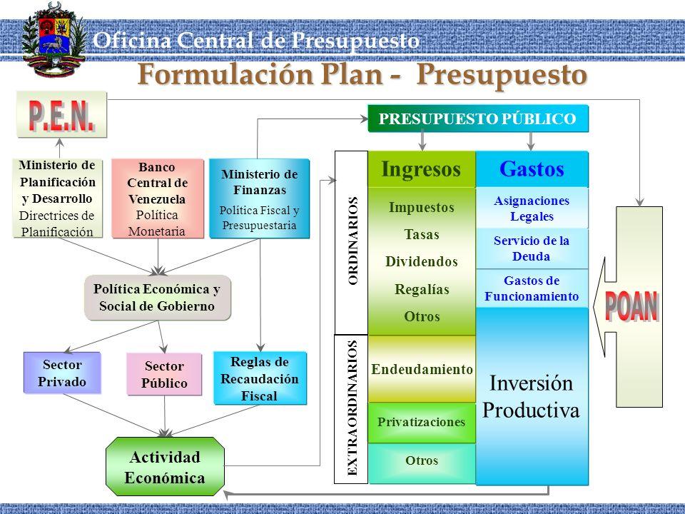 Formulación Plan - Presupuesto