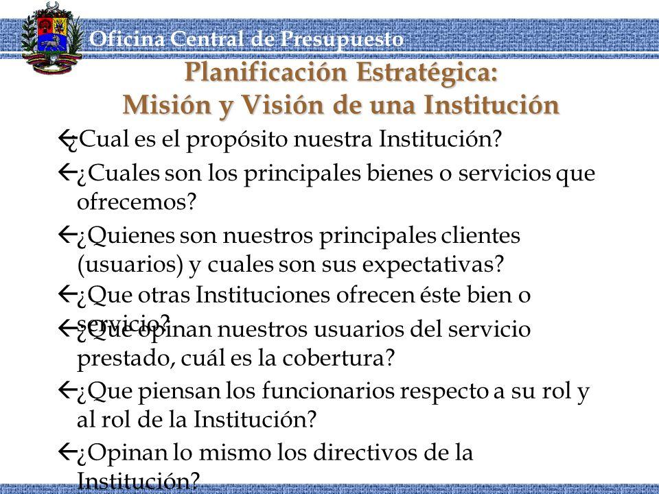 Planificación Estratégica: Misión y Visión de una Institución