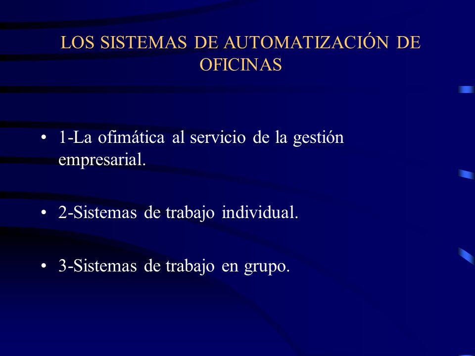 LOS SISTEMAS DE AUTOMATIZACIÓN DE OFICINAS