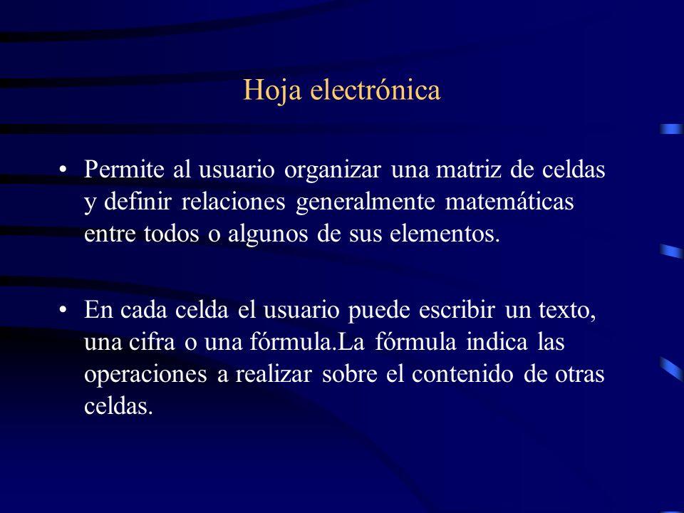 Hoja electrónica