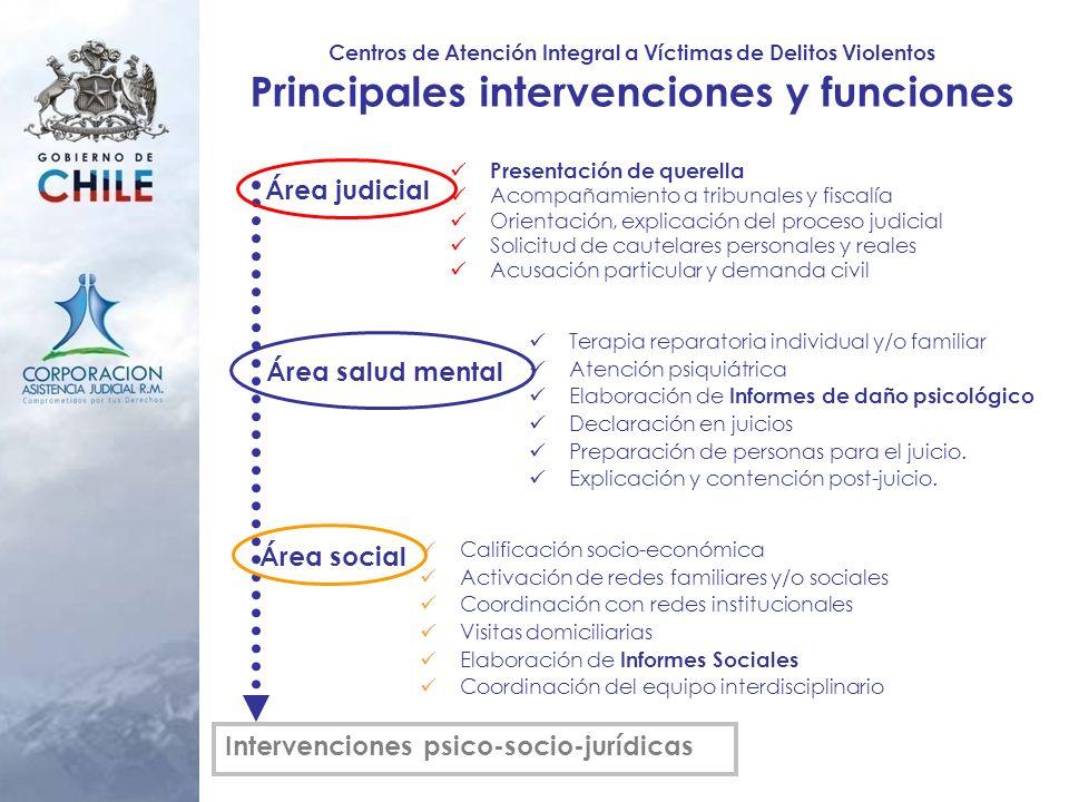 Principales intervenciones y funciones