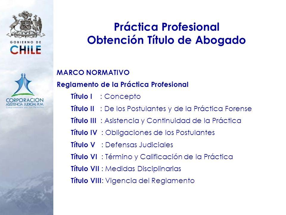 Práctica Profesional Obtención Título de Abogado