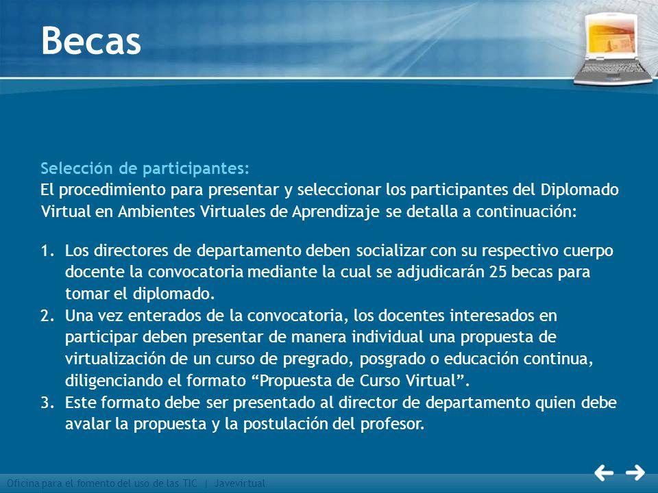 Becas Selección de participantes: