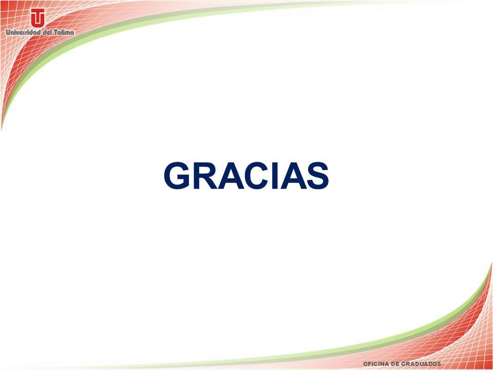 GRACIAS OFICINA DE GRADUADOS