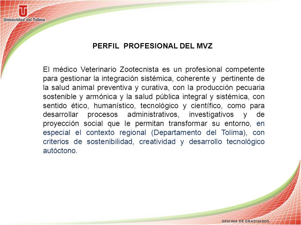 PERFIL PROFESIONAL DEL MVZ