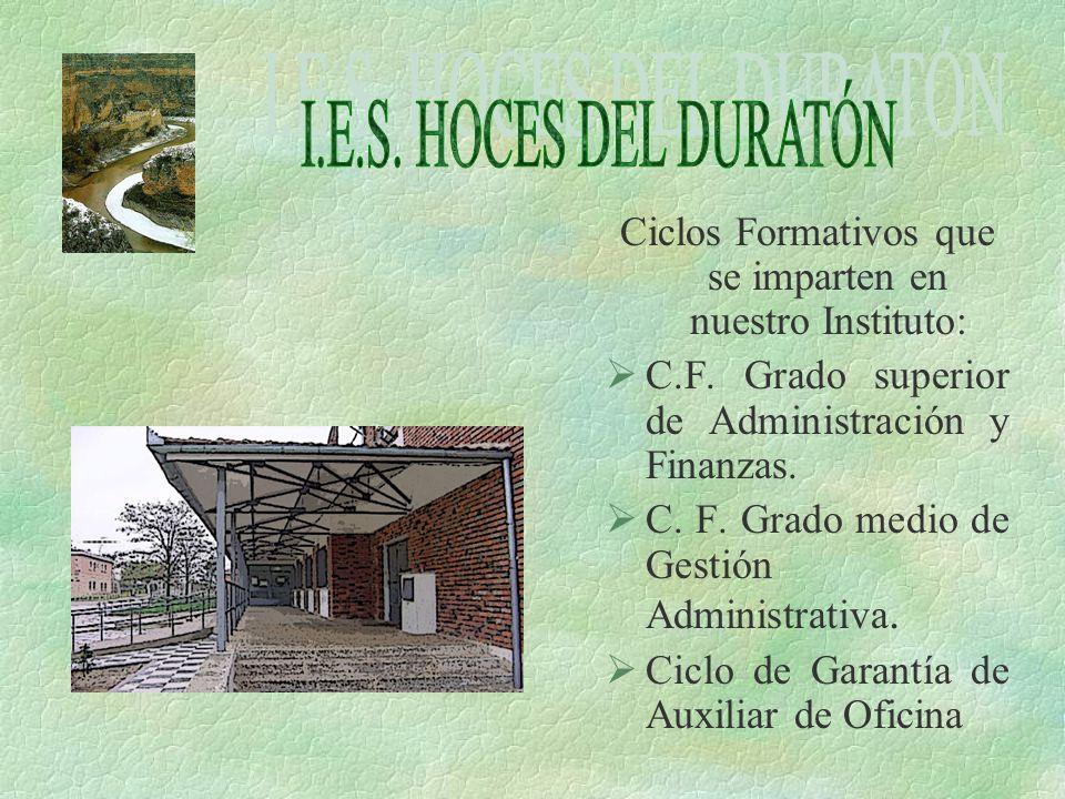Ciclos Formativos que se imparten en nuestro Instituto:
