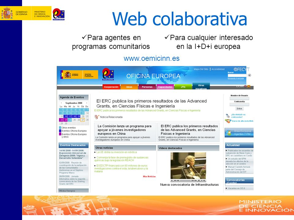Web colaborativa Para agentes en programas comunitarios