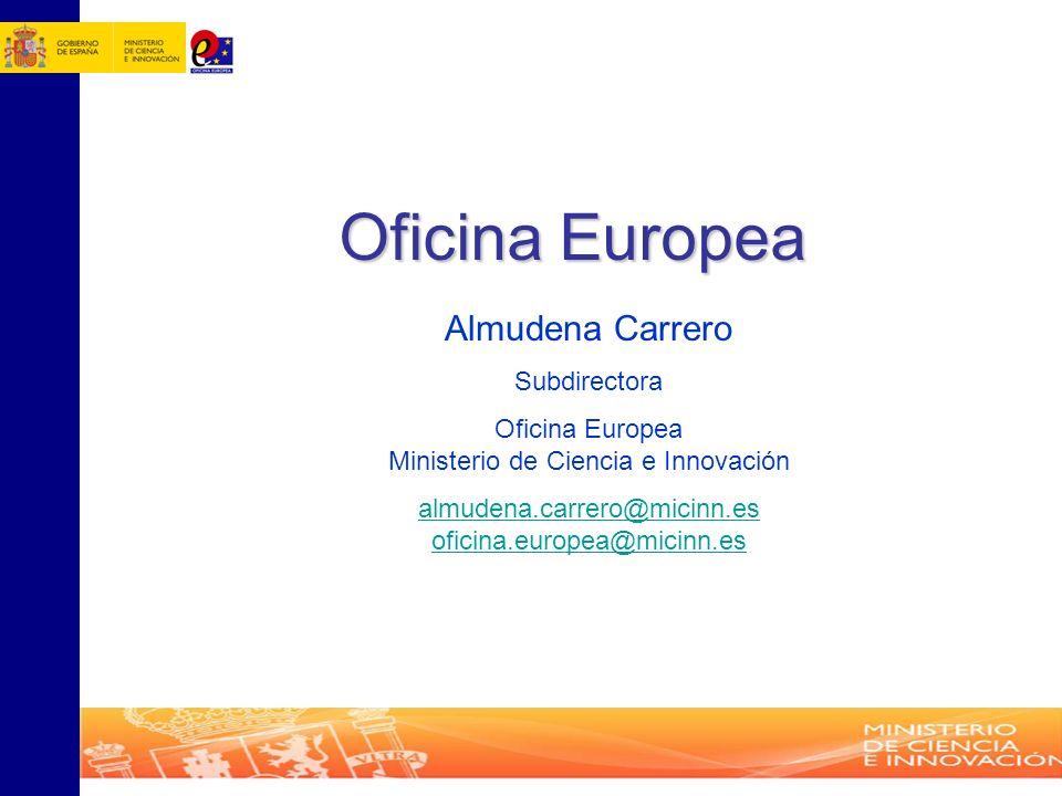 Oficina Europea Almudena Carrero Subdirectora