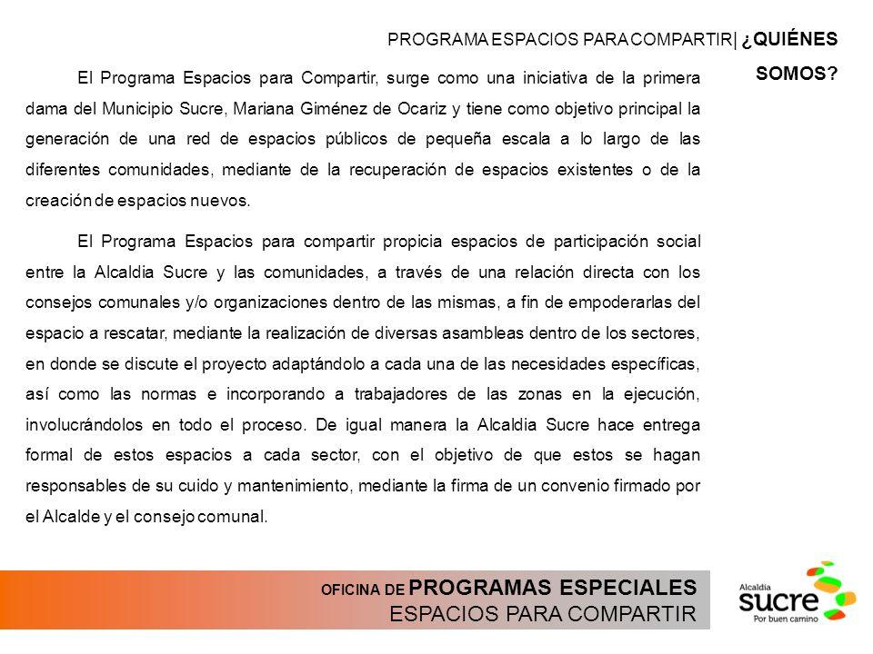 ESPACIOS PARA COMPARTIR