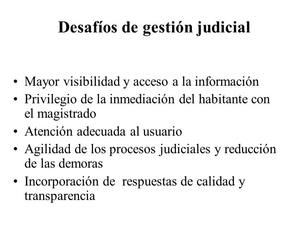 Desafíos de gestión judicial