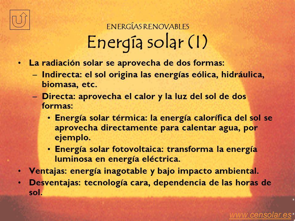 ENERGÍAS RENOVABLES Energía solar (I)