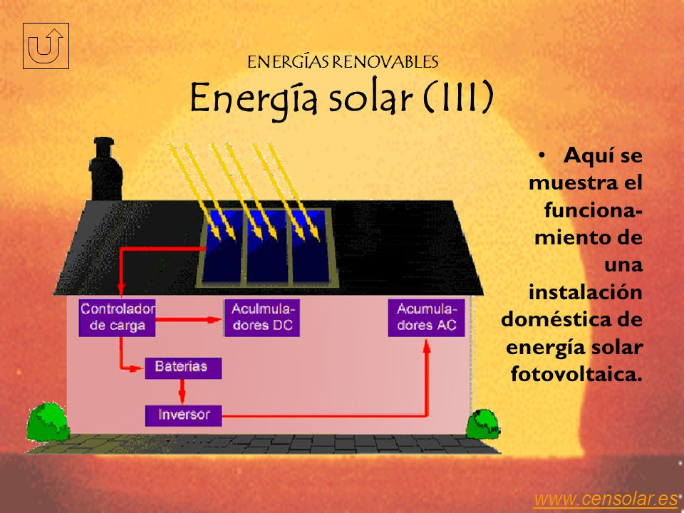 ENERGÍAS RENOVABLES Energía solar (III)