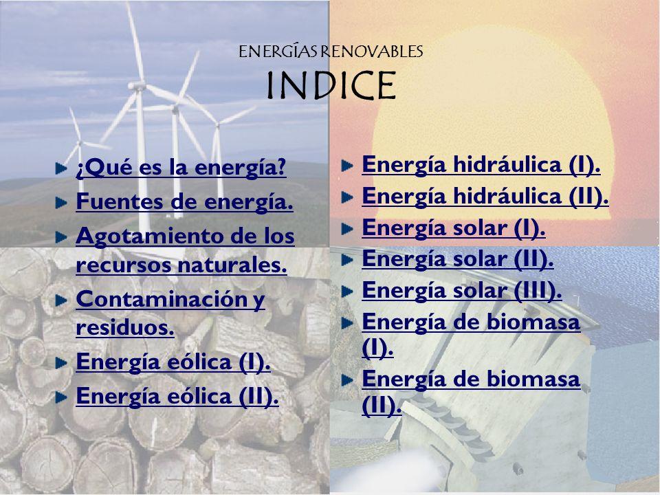 ENERGÍAS RENOVABLES INDICE