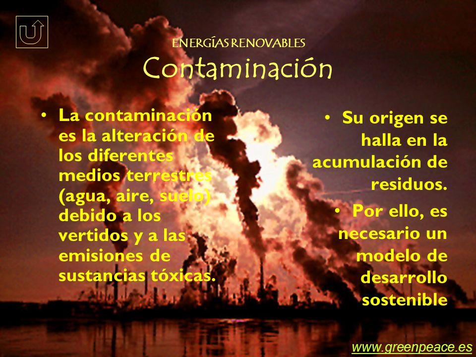 ENERGÍAS RENOVABLES Contaminación