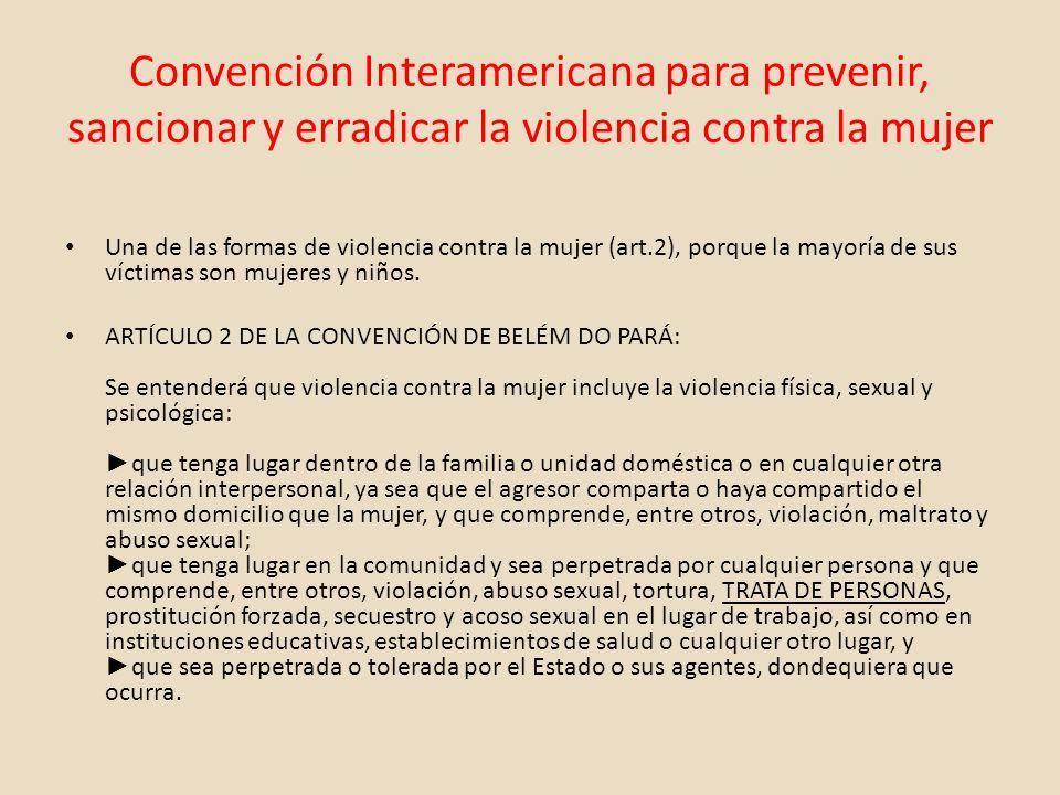 Convención Interamericana para prevenir, sancionar y erradicar la violencia contra la mujer