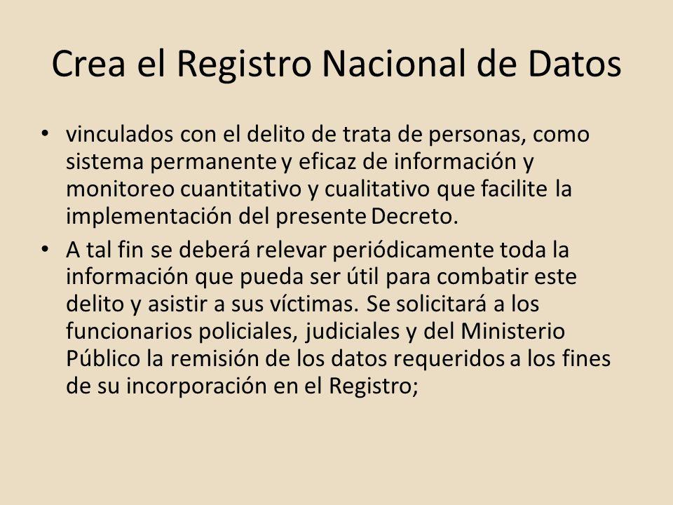 Crea el Registro Nacional de Datos