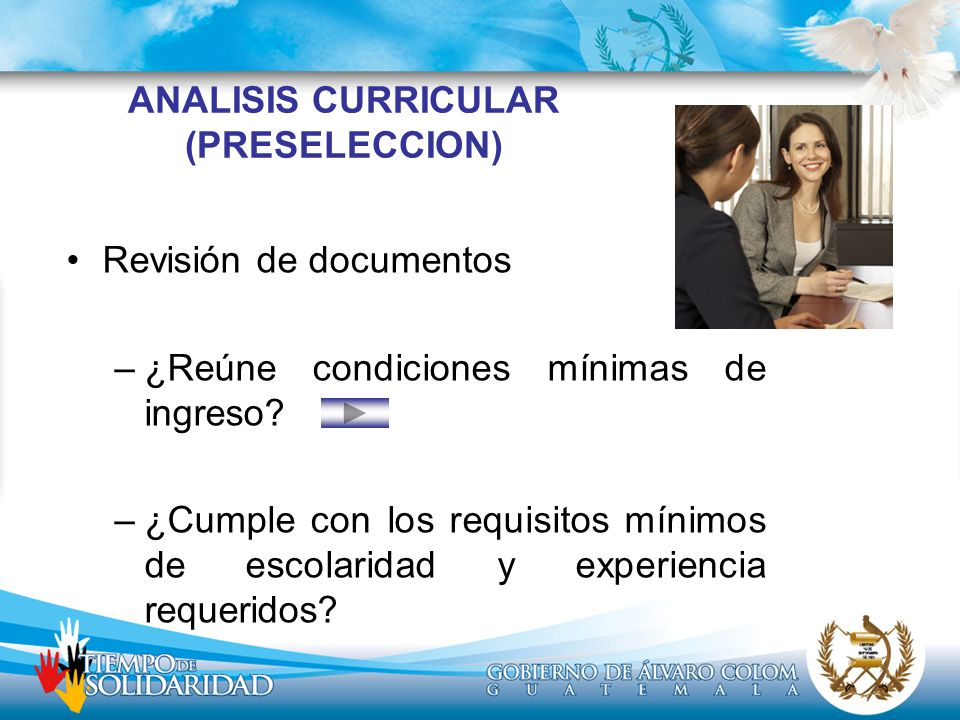 ANALISIS CURRICULAR (PRESELECCION)