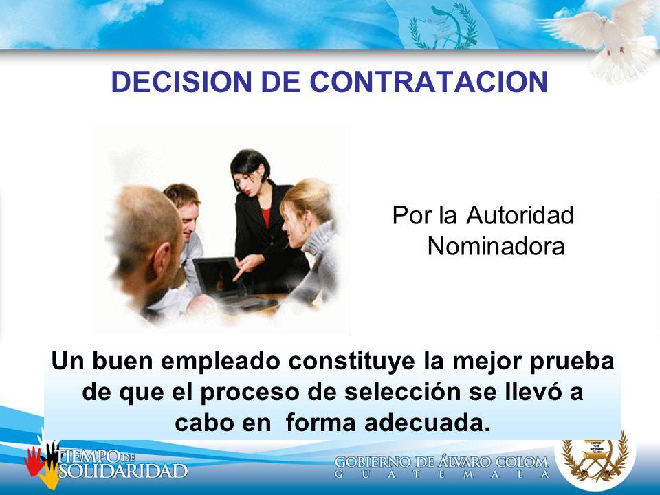DECISION DE CONTRATACION