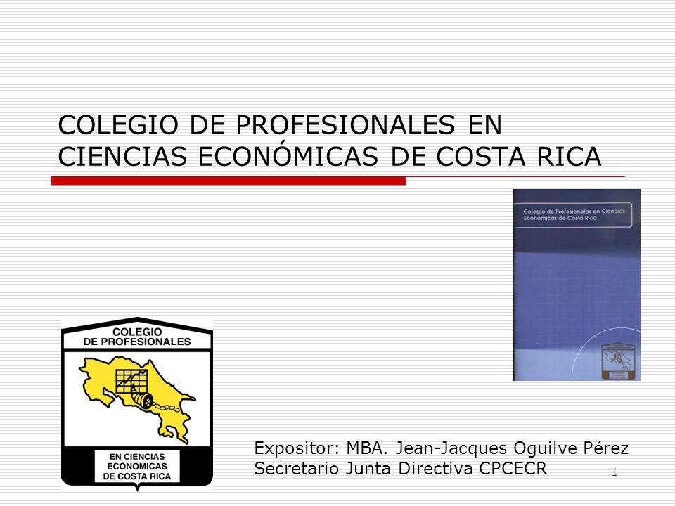 COLEGIO DE PROFESIONALES EN CIENCIAS ECONÓMICAS DE COSTA RICA