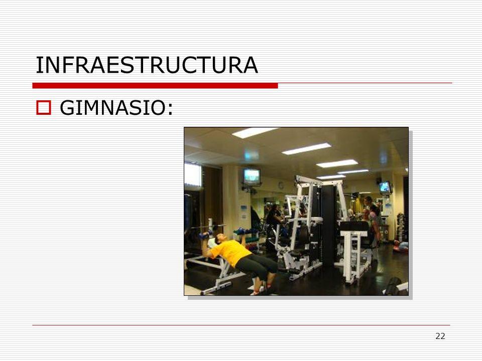 INFRAESTRUCTURA GIMNASIO: