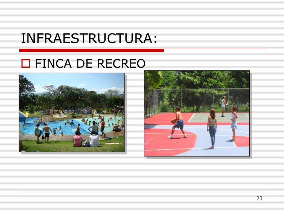 INFRAESTRUCTURA: FINCA DE RECREO