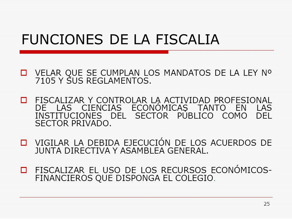 FUNCIONES DE LA FISCALIA