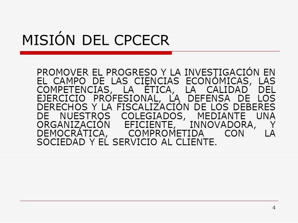 MISIÓN DEL CPCECR