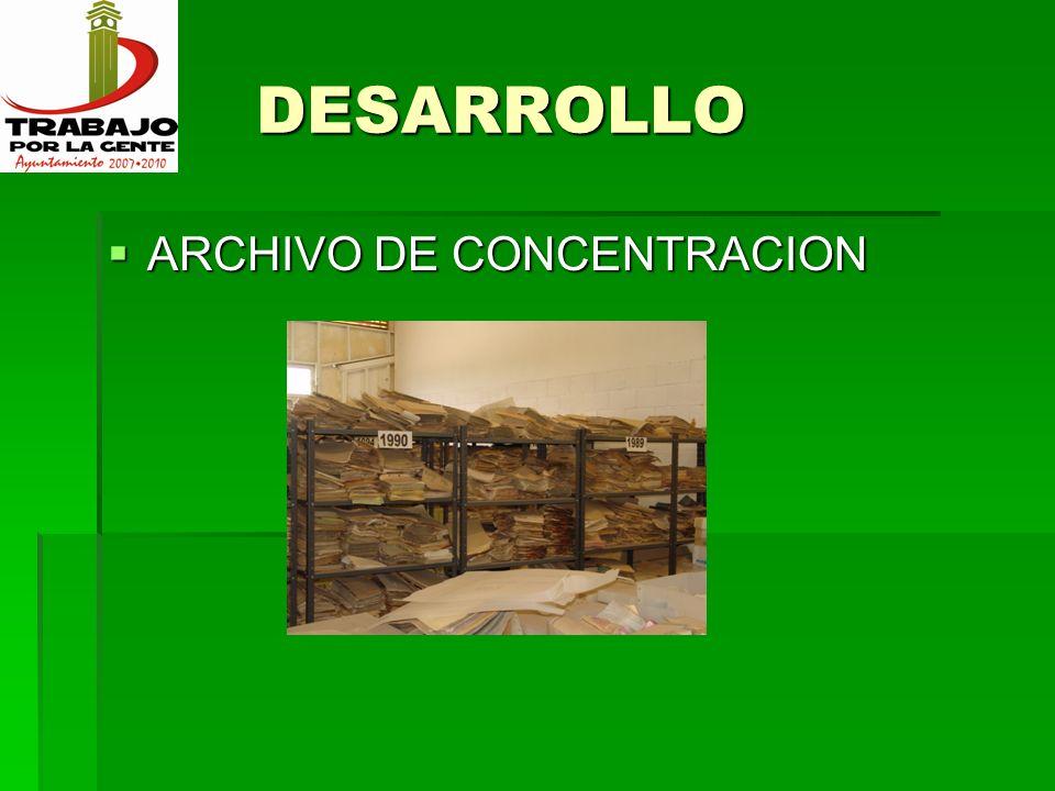 DESARROLLO ARCHIVO DE CONCENTRACION