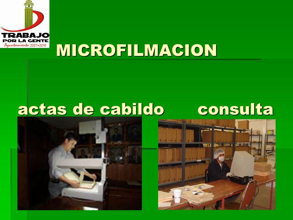 MICROFILMACION actas de cabildo consulta