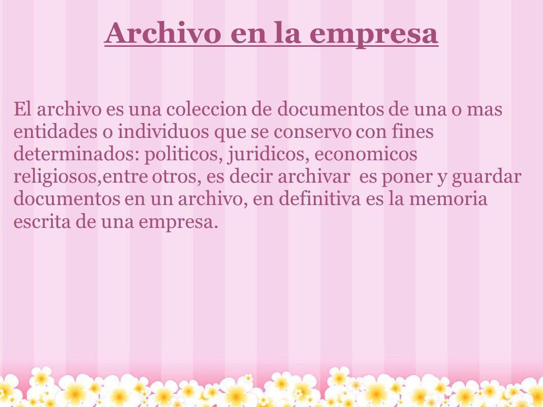 Archivo en la empresa